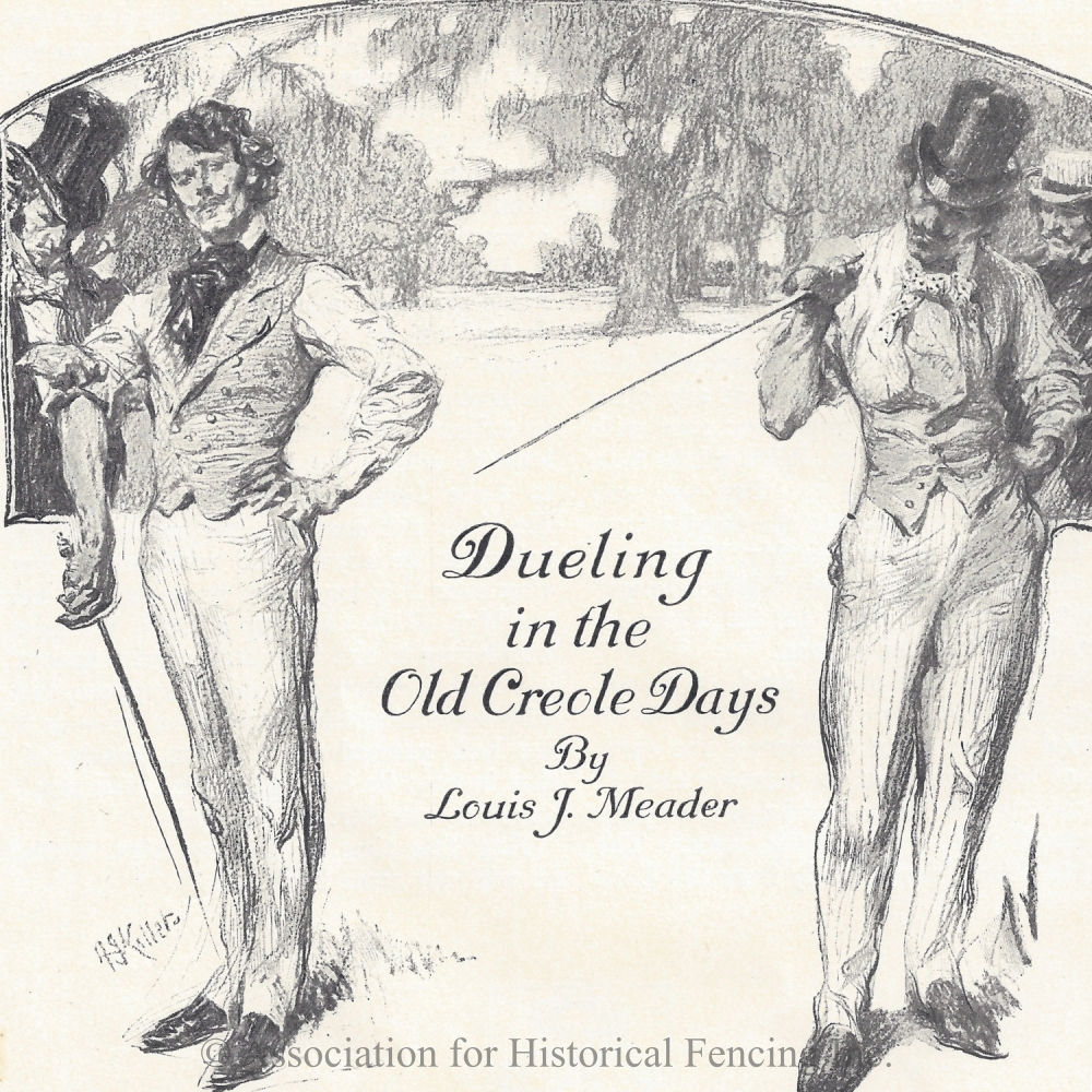 Dueling in the Old Creole Days drawn by Arthur I. Keller