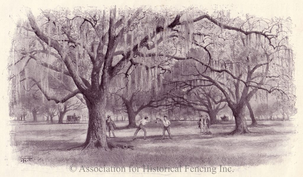 Famous New Orleans Dueling Oaks dueling ground.